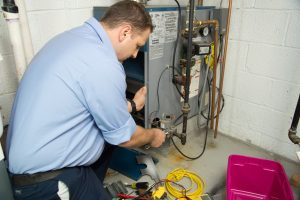 Furnace in a Utah County home being tuned up
