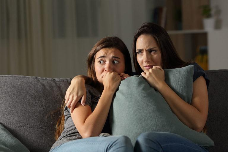 Scared women